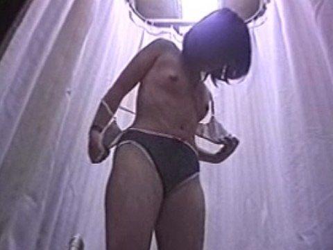 ●K!ランジェリーショップの試着室