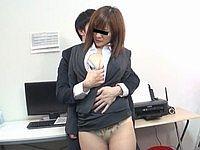 上司のセクハラに耐える美乳OL 斎藤はるな(32)